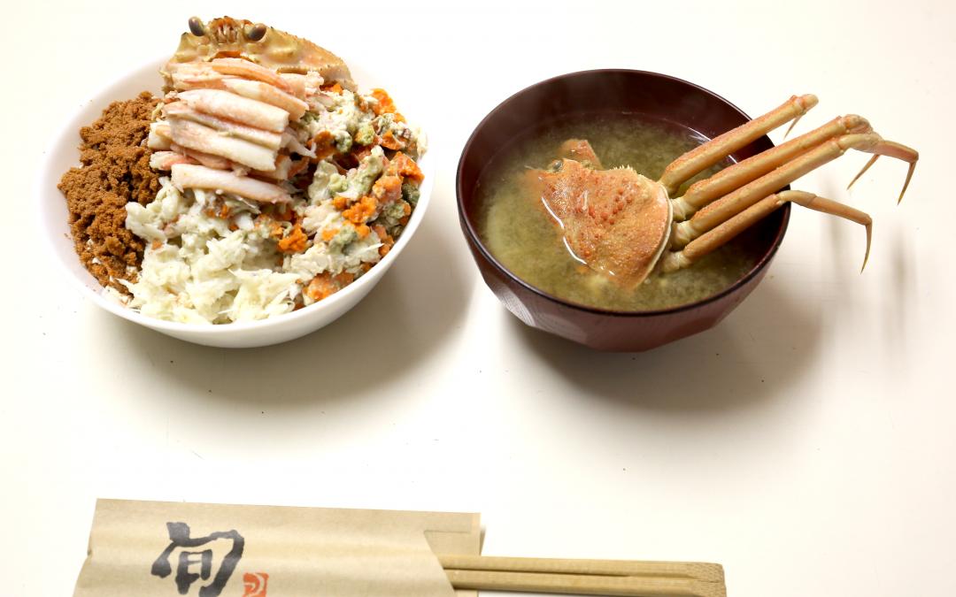 """味わえるのは1年に2ヶ月だけ。親ガニ(セコガニ)で""""親ガニ丼""""を作って山陰の味を楽しみませんか?"""
