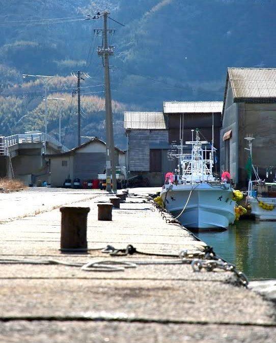 松江 漁港付近の風景